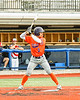 Cortland Crush Javier Rosa (3) at bat against the Syracuse Salt Cats in New York Collegiate Baseball League action at OCC Turf Field in Syracuse, New York on Monday, June 14, 2021. Game ended in a 2-2 tie.