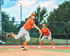 Cortland Crush Pitcher Jake Lombardi (41) throwing the ball to First Base against the Syracuse Salt Cats in New York Collegiate Baseball League action at OCC Turf Field in Syracuse, New York on Monday, June 14, 2021. Game ended in a 2-2 tie.