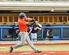 Cortland Crush Matthew Ward (20) hits the ball against the Syracuse Salt Cats in New York Collegiate Baseball League action at OCC Turf Field in Syracuse, New York on Monday, June 14, 2021. Game ended in a 2-2 tie.