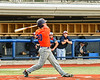 Cortland Crush Matthew Ward (20) after hitting the ball against the Syracuse Salt Cats in New York Collegiate Baseball League action at OCC Turf Field in Syracuse, New York on Monday, June 14, 2021. Game ended in a 2-2 tie.