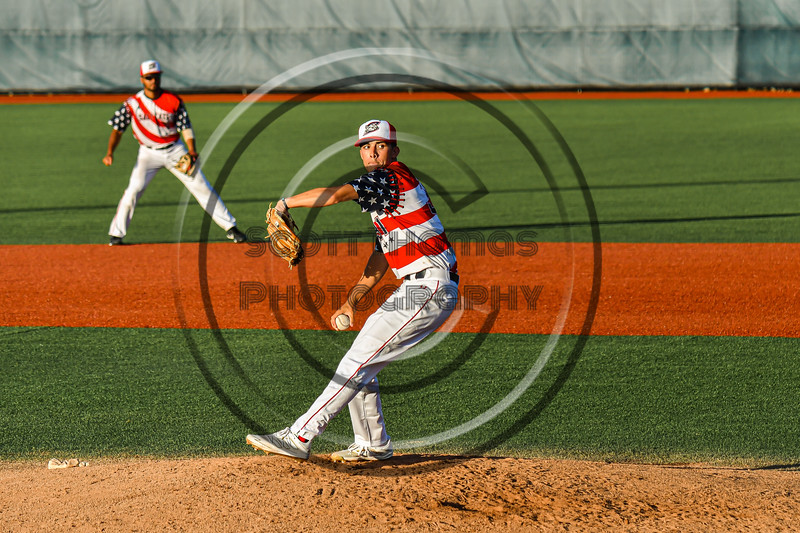 Syracuse Salt Cats Jack McCarty (31) pitching against the Cortland Crush in New York Collegiate Baseball League action at OCC Turf Field in Syracuse, New York on Monday, June 14, 2021. Game ended in a 2-2 tie.