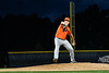 Cortland Crush Justin DelVecchio (24) pitching against the Syracuse Salt Cats in New York Collegiate Baseball League action at OCC Turf Field in Syracuse, New York on Monday, June 14, 2021. Game ended in a 2-2 tie.