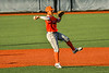 Cortland Crush Javier Rosa (3) throwing the ball against the Syracuse Salt Cats in New York Collegiate Baseball League action at OCC Turf Field in Syracuse, New York on Monday, June 14, 2021. Game ended in a 2-2 tie.