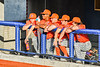 Cortland Crush players watching from the dugout against the Syracuse Salt Cats in New York Collegiate Baseball League action at OCC Turf Field in Syracuse, New York on Monday, June 14, 2021. Game ended in a 2-2 tie.