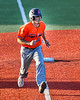 Cortland Crush Zack Hynes (14) at Third Base against the Syracuse Salt Cats in New York Collegiate Baseball League action at OCC Turf Field in Syracuse, New York on Monday, June 14, 2021. Game ended in a 2-2 tie.