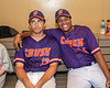 Cortland Crush players Rob Ciulla (13) and Lawrence Hamilton (34) in the dugout at Gutchess Lumber Sports Complex in Cortland, New York on Friday, June 18, 2021.