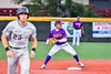 Cortland Crush Javier Rosa (3) turning a Double Play against the Sherrill Silversmiths in New York Collegiate Baseball League action at Gutchess Lumber Sports Complex in Cortland, New York on Friday, June 18, 2021. Cortland won 15-5.