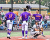 Cortland Crush Javier Rosa (3) celebrates Nicholas Pastore (1) Home Run against the Sherrill Silversmiths in New York Collegiate Baseball League action at Gutchess Lumber Sports Complex in Cortland, New York on Friday, June 18, 2021. Cortland won 15-5.