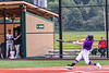 """Cortland Crush Brandon """"Buzz"""" Shirley (18) hits a  Home Run against the Sherrill Silversmiths in New York Collegiate Baseball League action at Gutchess Lumber Sports Complex in Cortland, New York on Friday, June 18, 2021. Cortland won 15-5."""