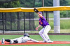 Cortland Crush Tyler Beard (21) keeping theh Sherrill Silversmiths runner at First Base in New York Collegiate Baseball League action at Gutchess Lumber Sports Complex in Cortland, New York on Friday, June 18, 2021. Cortland won 15-5.