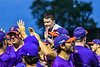 Cortland Crush players celebrating the win over the Sherrill Silversmiths in New York Collegiate Baseball League action at Gutchess Lumber Sports Complex in Cortland, New York on Friday, June 18, 2021. Cortland won 15-5.