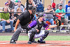 Cortland Crush Catcher Matthew Ward (20) playing against the Sherrill Silversmiths in New York Collegiate Baseball League action at Gutchess Lumber Sports Complex in Cortland, New York on Friday, June 18, 2021. Cortland won 15-5.