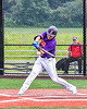 Cortland Crush Tyler Beard (21) swings and hits the ball against the Sherrill Silversmiths in New York Collegiate Baseball League action at Gutchess Lumber Sports Complex in Cortland, New York on Friday, June 18, 2021. Cortland won 15-5.