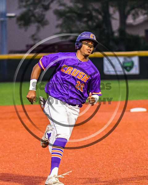 Cortland Crush Alexis Castillo (26) running the bases against the Sherrill Silversmiths in New York Collegiate Baseball League action at Gutchess Lumber Sports Complex in Cortland, New York on Friday, June 18, 2021. Cortland won 15-5.