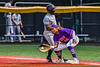 Cortland Crush Alexis Castillo (26) keeping the Sherrill Silversmiths runner at First Base in New York Collegiate Baseball League action at Gutchess Lumber Sports Complex in Cortland, New York on Friday, June 18, 2021. Cortland won 15-5.