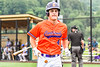 Cortland Crush Colt Harris (4) returning to the dugout after scoring a run against the Hornell Dodgers in New York Collegiate Baseball League action at Gutchess Lumber Sports Complex in Cortland, New York on Saturday, June 19, 2021. Hornell won 8-3