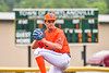 Cortland Crush John Davis (32) pitchng against the Hornell Dodgers in New York Collegiate Baseball League action at Gutchess Lumber Sports Complex in Cortland, New York on Saturday, June 19, 2021. Hornell won 8-3