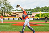 Cortland Crush Matthew Ward (20) catces a foul ball for an out against the Hornell Dodgers in New York Collegiate Baseball League action at Gutchess Lumber Sports Complex in Cortland, New York on Saturday, June 19, 2021. Hornell won 8-3