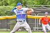 Hornell Dodgers Mitchell Daniels (3) pitching against the Cortland Crush in New York Collegiate Baseball League action at Gutchess Lumber Sports Complex in Cortland, New York on Saturday, June 19, 2021. Hornell won 8-3