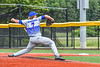 Hornell Dodgers Charlie White (7) pitching against the Cortland Crush in New York Collegiate Baseball League action at Gutchess Lumber Sports Complex in Cortland, New York on Saturday, June 19, 2021. Hornell won 8-3