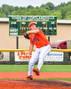 Cortland Crush Jackson Krueger (33) pitching against the Hornell Dodgers in New York Collegiate Baseball League action at Gutchess Lumber Sports Complex in Cortland, New York on Saturday, June 19, 2021. Hornell won 8-3