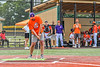 Cortland Crush fan attempts the $10,000 Hole-In-One Challenge at Gutchess Lumber Sports Complex in Cortland, New York on Saturday, June 19, 2021.