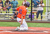 Cortland Crush Corey Stofko (15) scoring a run against the Hornell Dodgers in New York Collegiate Baseball League action at Gutchess Lumber Sports Complex in Cortland, New York on Saturday, June 19, 2021. Hornell won 8-3