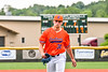 Cortland Crush Pitcher John Davis (32) comes off the field after an inning against the Hornell Dodgers in New York Collegiate Baseball League action at Gutchess Lumber Sports Complex in Cortland, New York on Saturday, June 19, 2021. Hornell won 8-3