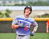 Hornell Dodgers Levi Hall (22) jogging the bases after hitting a Home Run against the Cortland Crush in New York Collegiate Baseball League action at Gutchess Lumber Sports Complex in Cortland, New York on Saturday, June 19, 2021. Hornell won 8-3