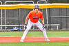 Cortland Crush Rob Ciulla (13) on base against the Hornell Dodgers in New York Collegiate Baseball League action at Gutchess Lumber Sports Complex in Cortland, New York on Saturday, June 19, 2021. Hornell won 8-3