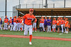 Cortland Crush xxxxx being introduced before playing the Hornell Dodgers in a New York Collegiate Baseball League game at Gutchess Lumber Sports Complex in Cortland, New York on Saturday, June 19, 2021.