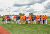 Cortland Crush Dads and their Sons before a New York Collegiate Baseball League game at Gutchess Lumber Sports Complex in Cortland, New York on Saturday, June 19, 2021.