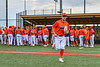 Cortland Crush Nicholas Pastore (1) being introduced before playing the Hornell Dodgers in a New York Collegiate Baseball League game at Gutchess Lumber Sports Complex in Cortland, New York on Saturday, June 19, 2021.