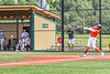 Cortland Crush Alexis Castillo (26) hits the ball against the Hornell Dodgers in New York Collegiate Baseball League action at Gutchess Lumber Sports Complex in Cortland, New York on Saturday, June 19, 2021. Hornell won 8-3
