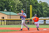 Hornell Dodgers Aaron Mann (23) throwing the ball against the Cortland Crush in New York Collegiate Baseball League action at Gutchess Lumber Sports Complex in Cortland, New York on Saturday, June 19, 2021. Hornell won 8-3