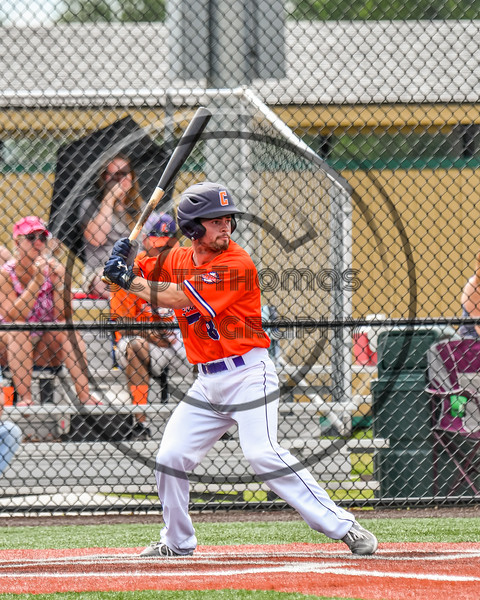 Cortland Crush Seth Reisman (8) at bat against the Hornell Dodgers in New York Collegiate Baseball League action at Gutchess Lumber Sports Complex in Cortland, New York on Saturday, June 19, 2021. Hornell won 8-3