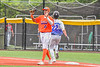 Cortland Crush Alexis Castillo (26) with the ball against the Hornell Dodgers in New York Collegiate Baseball League action at Gutchess Lumber Sports Complex in Cortland, New York on Saturday, June 19, 2021. Hornell won 8-3