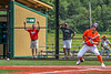 Cortland Crush Nicholas Pastore (1) bunting the ball against the Hornell Dodgers in New York Collegiate Baseball League action at Gutchess Lumber Sports Complex in Cortland, New York on Saturday, June 19, 2021. Hornell won 8-3