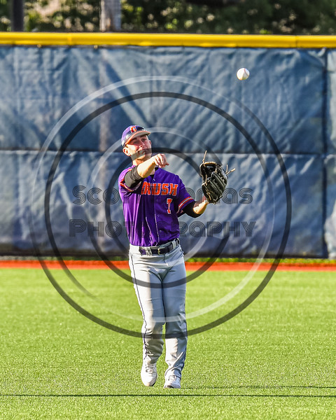 Cortland Crush Jason Boule (7) throwing the ball against the Syracuse Salt Cats in New York Collegiate Baseball League action at OCC Turf Field in Syracuse, New York on Tuesday, June 22, 2021. Cortland won 6-4.