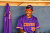 Cortland Crush Alexis Castillo (26) in the dugout before playing the Syracuse Salt Cats in a New York Collegiate Baseball League game at OCC Turf Field in Syracuse, New York on Tuesday, June 22, 2021.