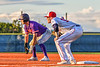 Cortland Crush Nicholas Pastore (1) at First Base against the Syracuse Salt Cats in New York Collegiate Baseball League action at OCC Turf Field in Syracuse, New York on Tuesday, June 22, 2021. Cortland won 6-4.
