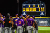 Cortland Crush players celebrated the win over the Syracuse Salt Cats in a New York Collegiate Baseball League game at OCC Turf Field in Syracuse, New York on Tuesday, June 22, 2021. Cortland won 6-4.