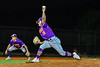 """Cortland Crush Brandon """"Buzz"""" Shirley (18) pitching against the Syracuse Salt Cats in New York Collegiate Baseball League action at OCC Turf Field in Syracuse, New York on Tuesday, June 22, 2021. Cortland won 6-4."""
