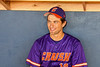 Cortland Crush Rob Ciulla (13) in the dugout before playing the Syracuse Salt Cats in a New York Collegiate Baseball League game at OCC Turf Field in Syracuse, New York on Tuesday, June 22, 2021.