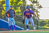 Cortland Crush Nicholas Pastore (1) looking to score against the Syracuse Salt Cats in New York Collegiate Baseball League action at OCC Turf Field in Syracuse, New York on Tuesday, June 22, 2021. Cortland won 6-4.