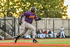 Cortland Crush Lawrence Hamilton (34) running to First Base against the Syracuse Salt Cats in New York Collegiate Baseball League action at OCC Turf Field in Syracuse, New York on Tuesday, June 22, 2021. Cortland won 6-4.