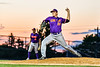 Cortland Crush Justin DelVecchio (24) pitching against the Syracuse Salt Cats in New York Collegiate Baseball League action at OCC Turf Field in Syracuse, New York on Tuesday, June 22, 2021. Cortland won 6-4.