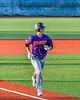 Cortland Crush Jason Boule (7) runs in to score a run against the Syracuse Salt Cats in New York Collegiate Baseball League action at OCC Turf Field in Syracuse, New York on Tuesday, June 22, 2021. Cortland won 6-4.