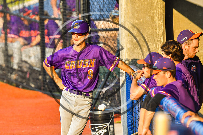 Cortland Crush played the Syracuse Salt Cats in New York Collegiate Baseball League action at OCC Turf Field in Syracuse, New York on Tuesday, July 6, 2021. Game ended in a 3-3 tie.