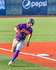 Cortland Crush Nicholas Pastore (1) rounds Third Base on his way to score a run against the Syracuse Salt Cats in New York Collegiate Baseball League action at OCC Turf Field in Syracuse, New York on Tuesday, July 6, 2021. Game ended in a 3-3 tie.